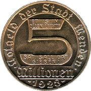 5 Millionen Mark (Menden) [Stadt, Westfalen] – obverse