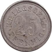 25 Pfennig (Burgsteinfurt) [Stadt, Westfalen] – reverse