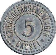 5 Pfennig (Cassel) [POW, Hessen-Nassau] – obverse