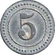 5 Pfennig (Cassel) [POW, Hessen-Nassau] – reverse