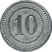 10 Pfennig (Cassel) [POW, Hessen-Nassau] – reverse
