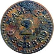 2 Pfennig (Oberrad) [Private, Hessen-Nassau, Familien-Verein] – obverse