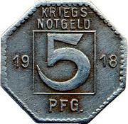 5 Pfennig (Hechingen) [Stadt, Hohenzollern] – reverse