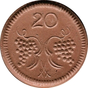 20 Pfennig (Münsterberg) [Stadt, Schlesien] – reverse
