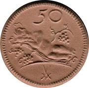 50 Pfennig (Münsterberg) [Stadt, Schlesien] – reverse