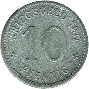 10 Pfennig (Letmathe) [Gemeinde, Westfalen] – reverse