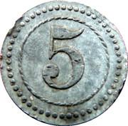 5 Pfennig Kriegsgefangenenlager IX A.K. Armee Korps Güstrow. POW CAMP – reverse