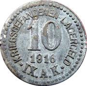 10 Pfennig - Kriegsgefangenenlager IX A.K. Armee Korps Güstrow. POW CAMP – obverse