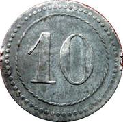 10 Pfennig - Kriegsgefangenenlager IX A.K. Armee Korps Güstrow. POW CAMP – reverse