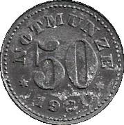 50 Pfennig (Schauenstein) [Private, Hessen-Nassau, H. Heye Glasfabrik] – reverse