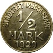 ½ Mark (Rudolstadt) [Stadt, Schwarzburg-Rudolstadt] – obverse