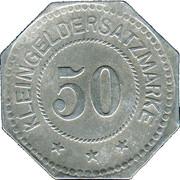 50 Pfennig (Ludwigshafen am Rhein) [Stadt, Pfalz] – reverse
