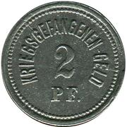 2 Pfennig (Ohrdruf) [POW, Sachsen-Coburg-Gotha] – reverse