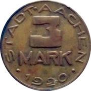 3 Mark (Aachen) – obverse