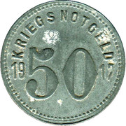 50 Pfennig (Speyer) [Kreishauptstadt, Rheinpfalz] – reverse
