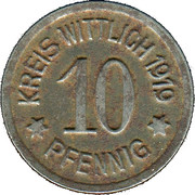 10 Pfennig (Wittlich) [Kreis, Rheinprovinz] – obverse