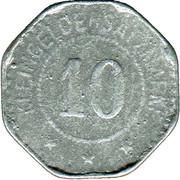 10 Pfennig (Saarburg, Bezirk Trier) [Kreis, Rheinprovinz] – reverse