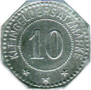 10 Pfennig (Duisburg) [Private, Rheinprovinz, Firma Peter Fix Söhne GmbH] – reverse