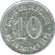 10 Pfennig (Mettman) [Private, Rheinprovinz, Wagner & Englert G.M.B.H.] – reverse
