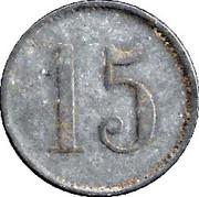 15 Pfennig (Düsseldorf) [Private, Rheinprovinz, A.Piel] – reverse