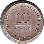 10 Mark (Köln) [Private, Rheinprovinz, Franz Stollenwerk] – obverse