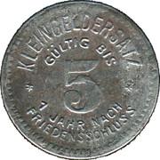 5 Pfennig (Gössnitz) [Stadt, Sachsen-Altenburg] – reverse