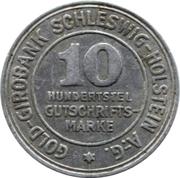 10/100 Gutschriftsmarke (Schleswig-Holstein) [Private, Girobank A.G.] – obverse