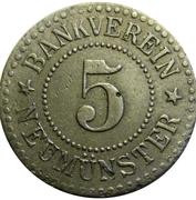 5 Pfennig (Neumünster) [Private, Schleswig-Holstein, Bankverein] – obverse
