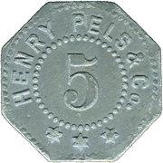 5 Pfennig (Erfurt) [Private, Provinz Sachsen, Henry Pels & Co.] – obverse