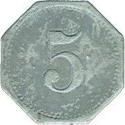5 Pfennig (Erfurt) [Private, Provinz Sachsen, Henry Pels & Co.] – reverse