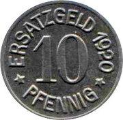 10 Pfennig (Zeitz) [Stadt, Provinz Sachsen] – reverse