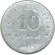 10 Pfennig (Weißenfels an der Saale) [Stadt, Provinz Sachsen] – reverse