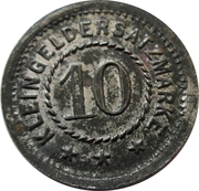10 Pfennig (Heldrungen) [Stadt, Provinz Sachsen] – reverse