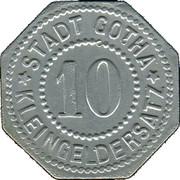 10 Pfennig (Gotha) [Stadt, Sachsen-Coburg] – obverse