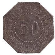 50 Pfennig (Gardelegen) [Kreis, Provinz Sachsen] – reverse