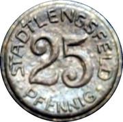 25 Pfennig (Stadtlengsfeld) [Stadt, Sachsen-Weimar-Eisenach] – obverse