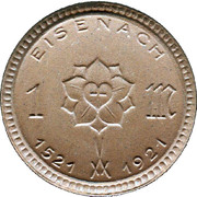 1 Mark (Eisenach) [Stadt, Sachsen-Weimar-Eisenach] – obverse