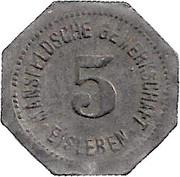 5 Pfennig (Eisleben) [Private, Provinz Sachsen, Trade Union] – reverse