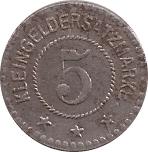 5 Pfennig (Mühlberg) [Gemeinde, Provinz Sachsen] – reverse
