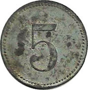 5 Pfennig (Lauingen) [Stadt, Bayern] – reverse