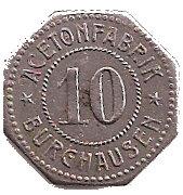 10 Pfennig (Burghausen an der Salzach) [Private, Bayern, Acetonfabrik] – obverse