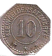 10 Pfennig (Burghausen an der Salzach) [Private, Bayern, Acetonfabrik] – reverse