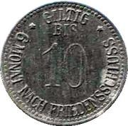 10 Pfennig (Eggenfelden) [Private, Bayern, Distrikts-Sparkasse] – reverse
