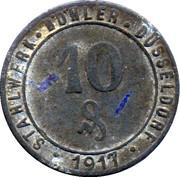 10 Pfennig (Düsseldorf) [Private, Rheinprovinz, Stahlwerk Böhler] – obverse
