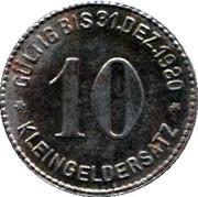 10 Pfennig (Mettmann) [Private, Rheinprovinz, Wagner & Englert GmbH] – reverse