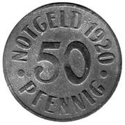 50 Pfennig (Cassel) [Stadt, Hessen-Nassau] – reverse