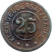 25 Pfennig (Belgern) [Stadt, Provinz Sachsen] – reverse