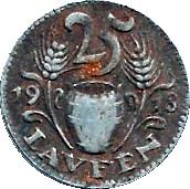 25 Pfennig (Laufen) [Bezirksamt, Bayern] – reverse
