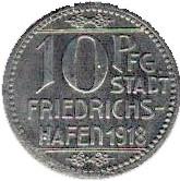 10 Pfennig (Friedrichshafen) [Stadt, Württemberg] – obverse