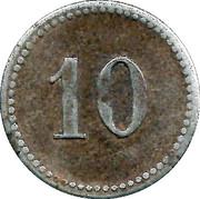 10 Pfennig (Teterow) [Stadt, Mecklenburg-Schwerin] – reverse